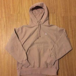 Rose/tan Champion hoodie